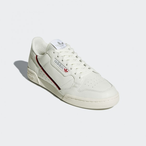 Adidas Continental 80 - Beige / Off White / Scarlet ...