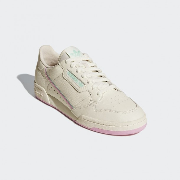 Adidas Continental 80 - Off White / True Pink / Clear Mint ...