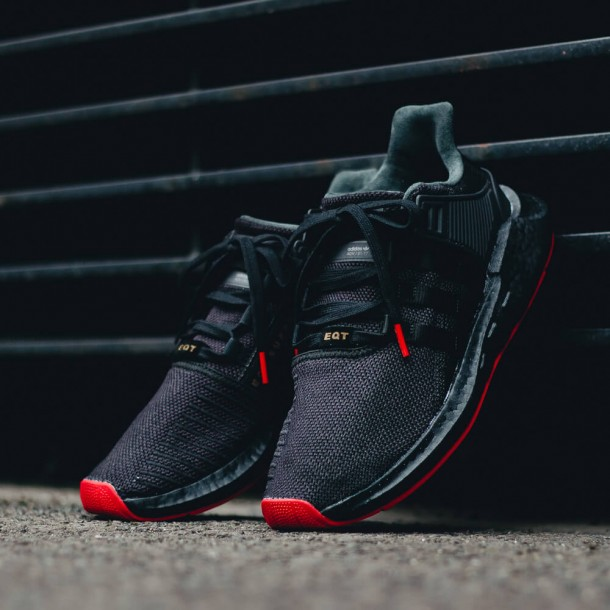 """Adidas EQT Support 93/17 Boost """"Red Carpet Pack"""" Core Black / Core Black / Core Black-31"""
