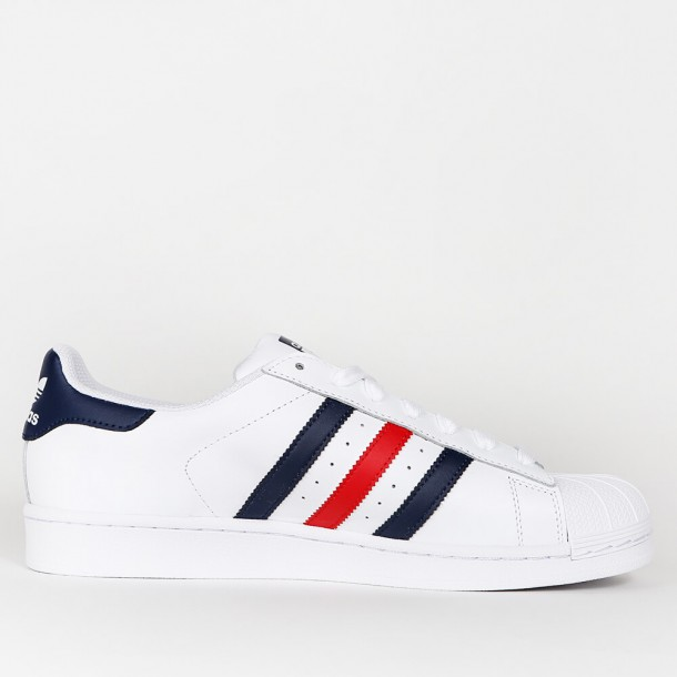 wholesale outlet timeless design cheap sale Adidas Superstar Foundation - Ftwr White / Collegiate Navy ...