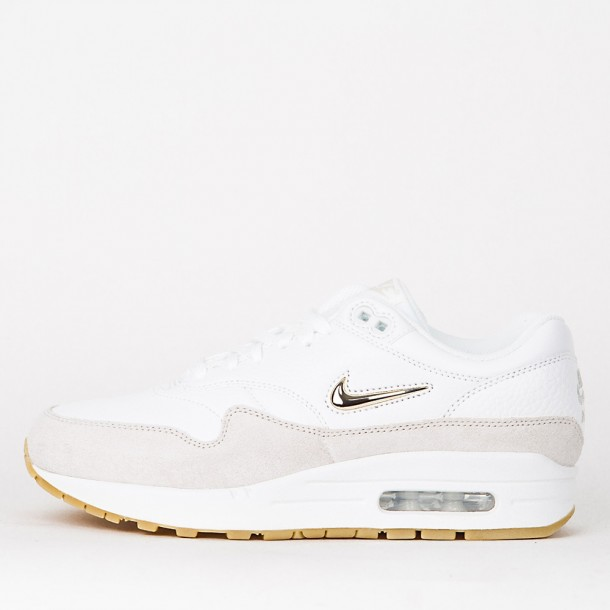 Nike Wmns Air Max 1 Premium SC Summit White   Metallic Gold Star Light Bone- 91f3d0f49