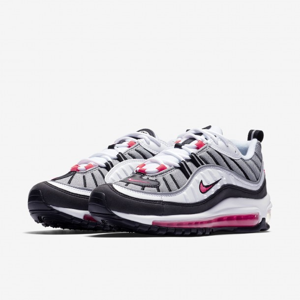 Nike Wmns Air Max 98 White / Solar Red Dust Reflect Silver-01
