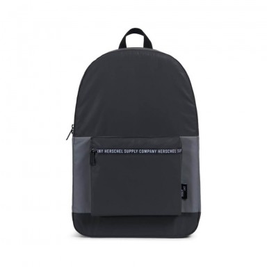 "Herschel Supply Co. Packable Daypack ""Day Night"" Collection - Black   Silver 1a936be7c2b28"