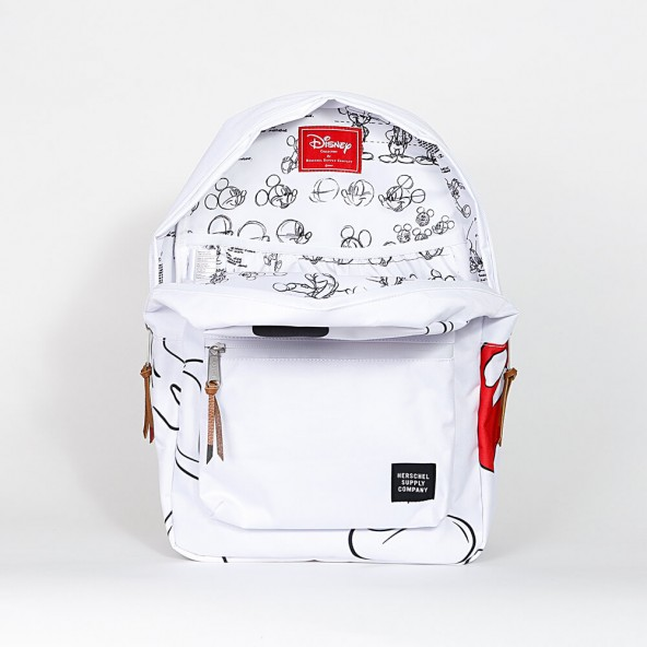 Herschel Supply Co. Settlement Backpack Mickey Mouse White-01