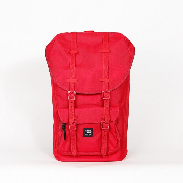 Herschel Supply Co. Little America Backpack Red / Ballistic / Rubber-01