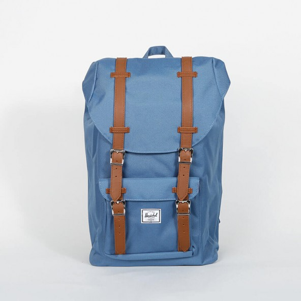 Herschel Supply Co. Little America Backpack Mid-Volume Captions Blue / Tan-01