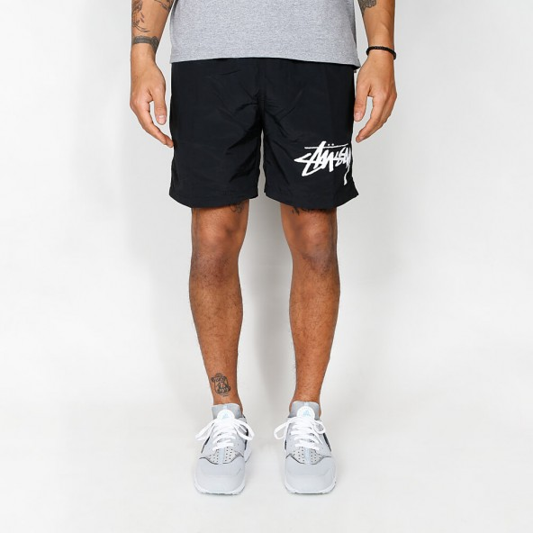 Stussy Stock Elastic Waist Trunk Black-01