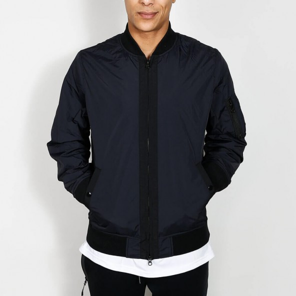 Stussy Nylon Bomber Jacket Black-01