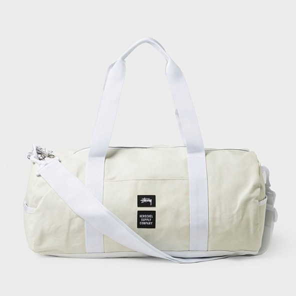 Stussy X Herschel Heavy Canvas Duffle White-01