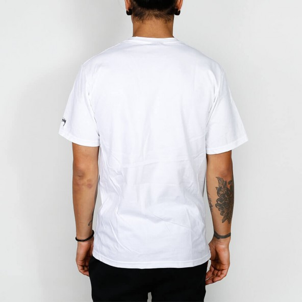 Stussy Aloha Cities Tee White / Navy-01