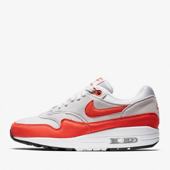 Nike Wmns Air Max 1 Vast Grey / Habanero Red-01