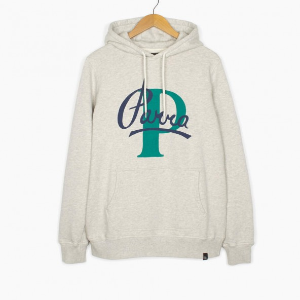 By Parra Hooded Sweater Painterly Script Oatmeal-01