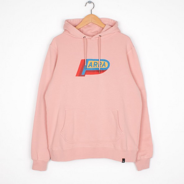 By Parra Hooded Sweater Garage Oil Pink-01