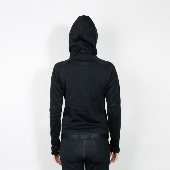 Nike Wmns Tech Fleece Funnel Hoodie Black-01