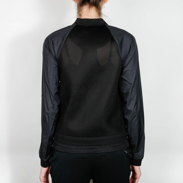 Nike Wmns Tech Hyper Mesh Bomber Jacket Black / White-01