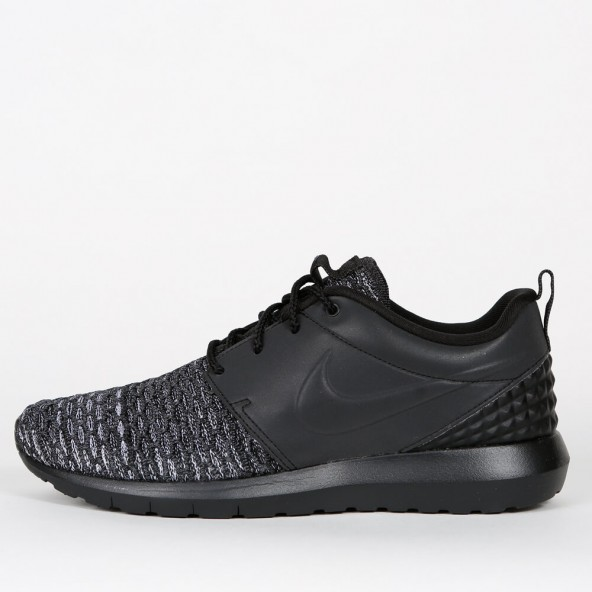 top brands website for discount 2018 shoes italy nike flyknit roshe run nm se triple black 990fa e6e9f