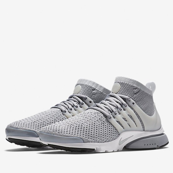 Nike Air Presto Flyknit Ultra - Wolf Grey / Pure Platinum - White - Black • stickabush.com