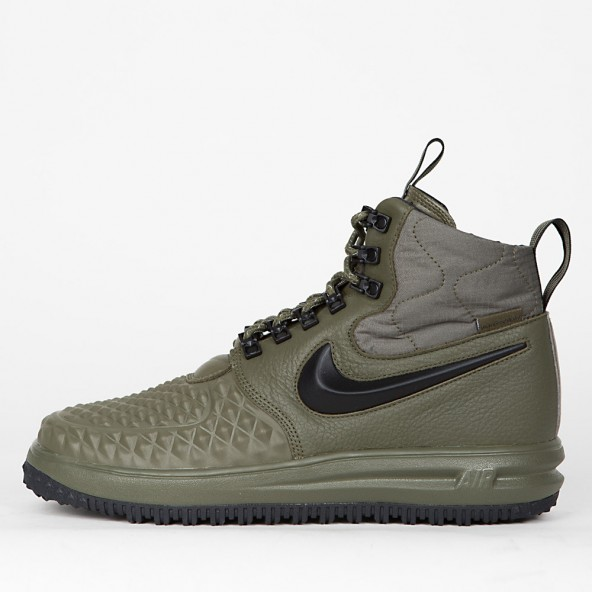 Nike Lunar Force 1 Duckboot 17 Medium Olive / Black Wolf Grey-01