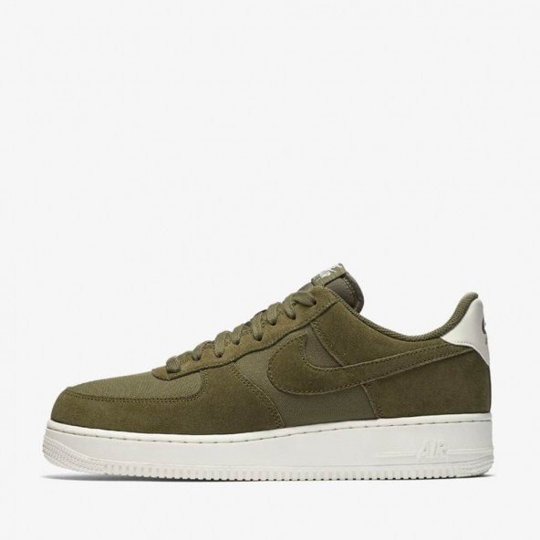 Nike Air Force 1 07 LV8 Suede Medium Olive / Medium Olive Sail-01