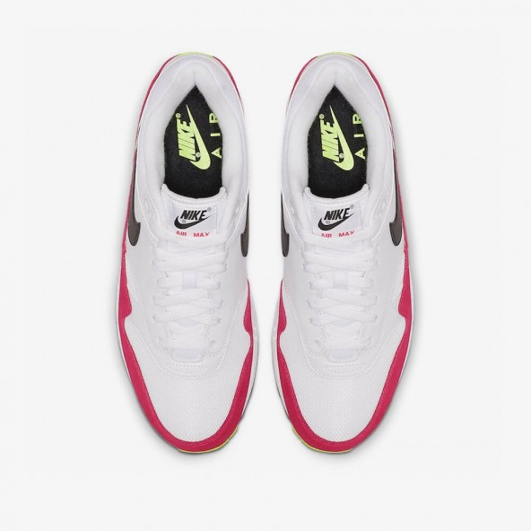 Nike Air Max 1 White / Black Volt Rush Pink-01