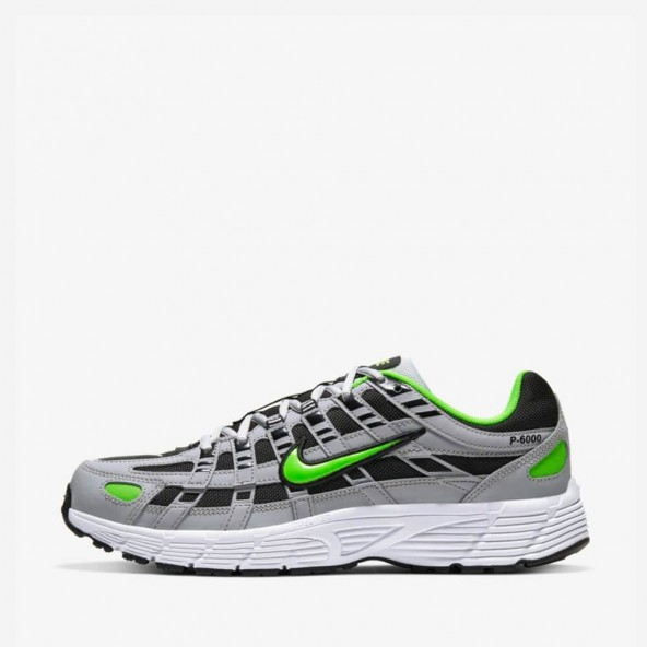 Nike P-6000 Wolf Grey / Electric Green Black White-01