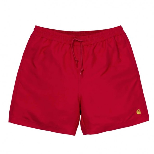 Carhartt WIP Chase Swim Trunk Cardinal / Gold-01