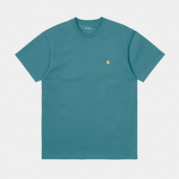 Carhartt WIP S/S Chase T-Shirt Hydro / Gold-01