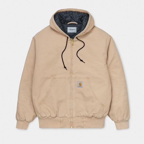 Carhartt WIP OG Active Jacket Dusty H Brown (aged canvas)-01