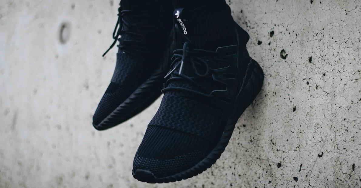 Adidas Tubular Doom Primeknit - Core Black   Night Grey   Running White.  Adidas Tubular Doom Primeknit Core Black Night Grey Running White S80508 51b2a3ee3